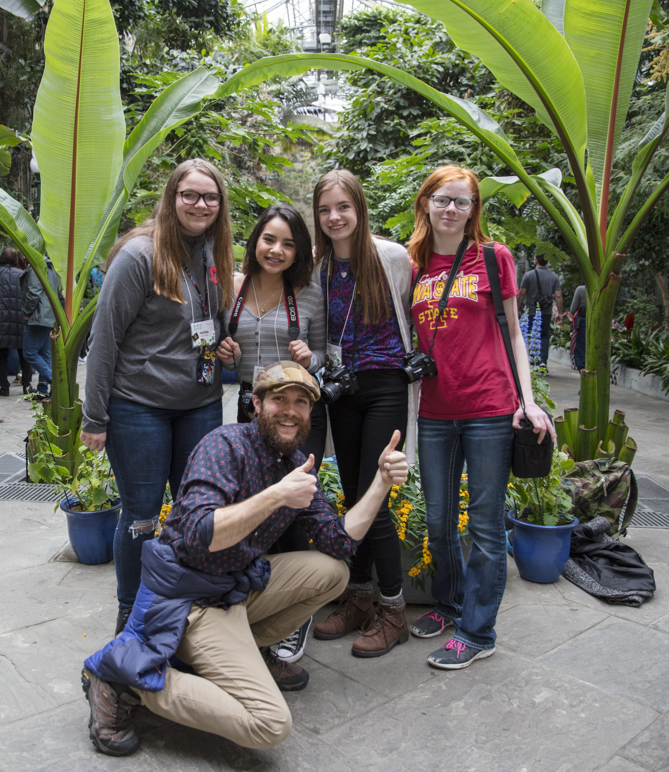 Clark Colby with Iowa 4-H youth photographers at National 4-H Photography Summit in Washington, DC