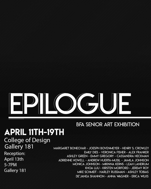 Epilogue: BFA Senior Art Exhibition