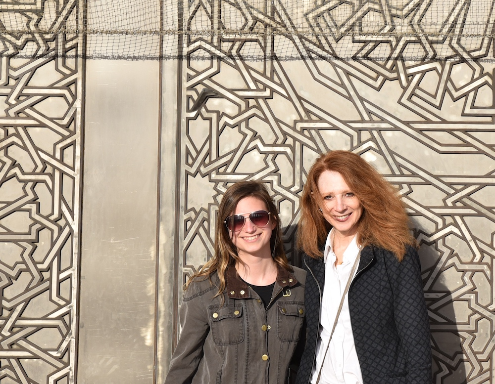 Dr. Diane Al Shihabi (R) with Katelyn Judson in Casablanca, Morocco.