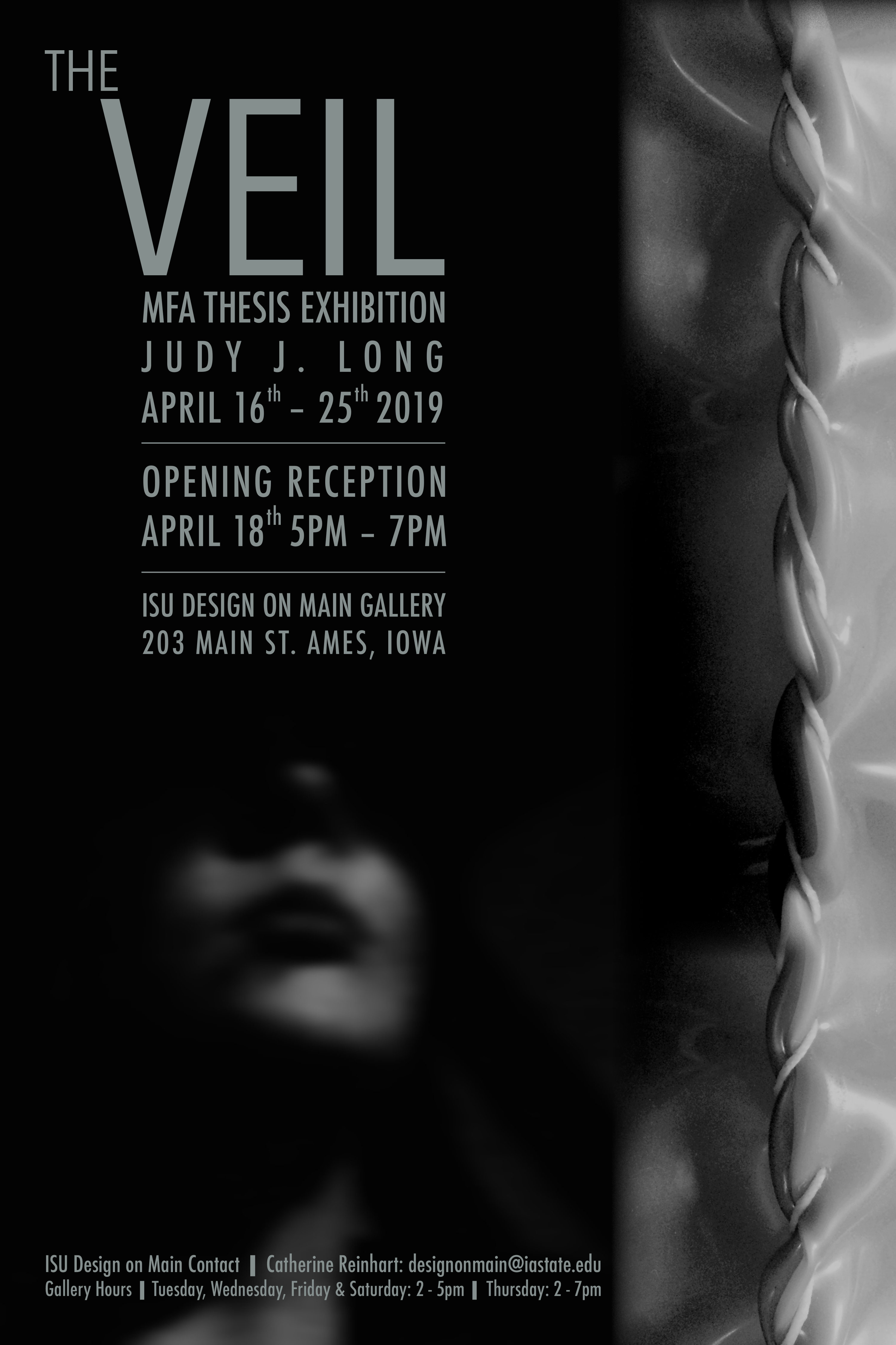 The Veil Judy Long MFA Thesis Exhibition Reception