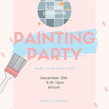CODAC Study Week Painting Party