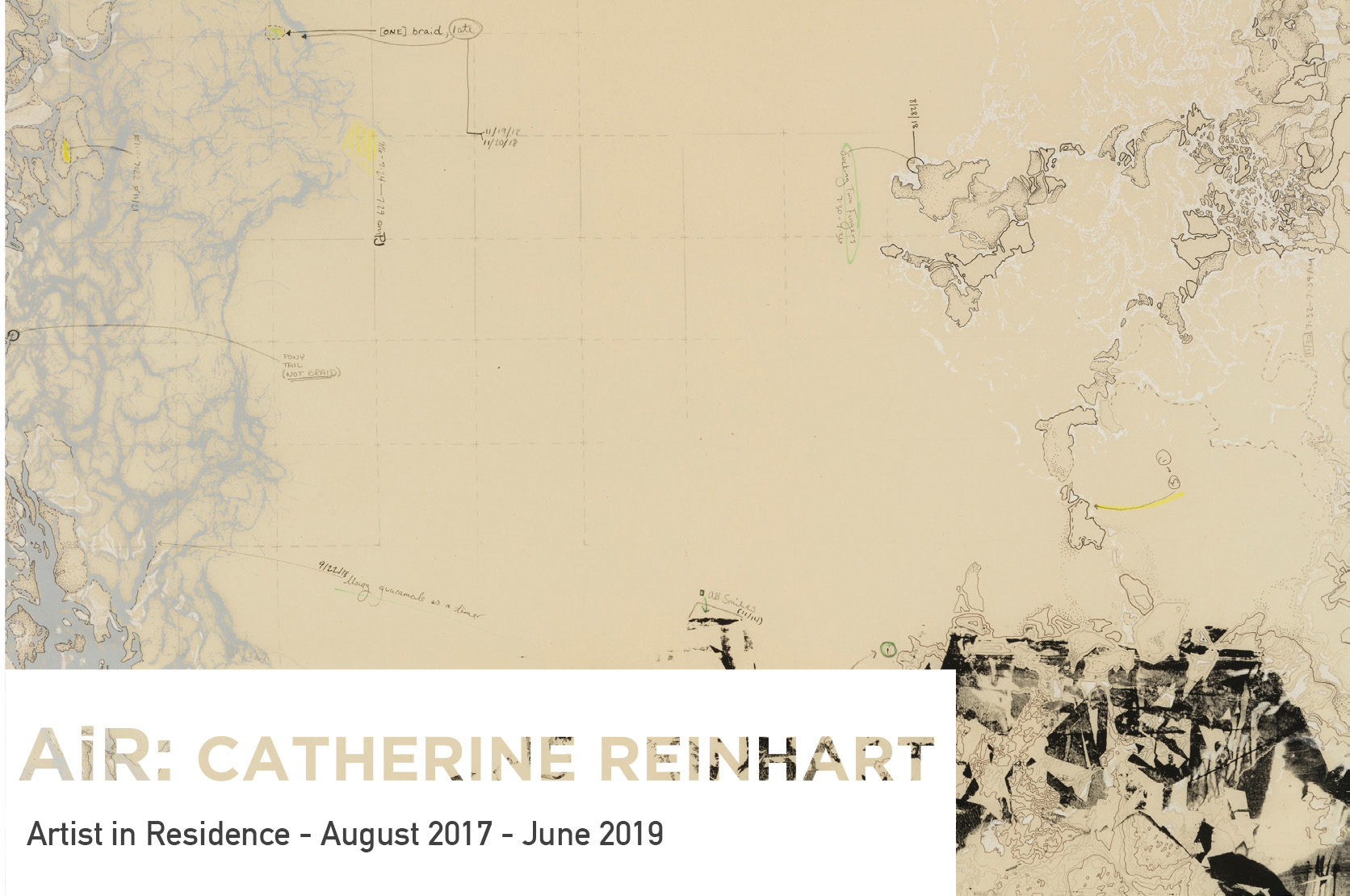 AiR: Catherine Reinhart exhibition postcard