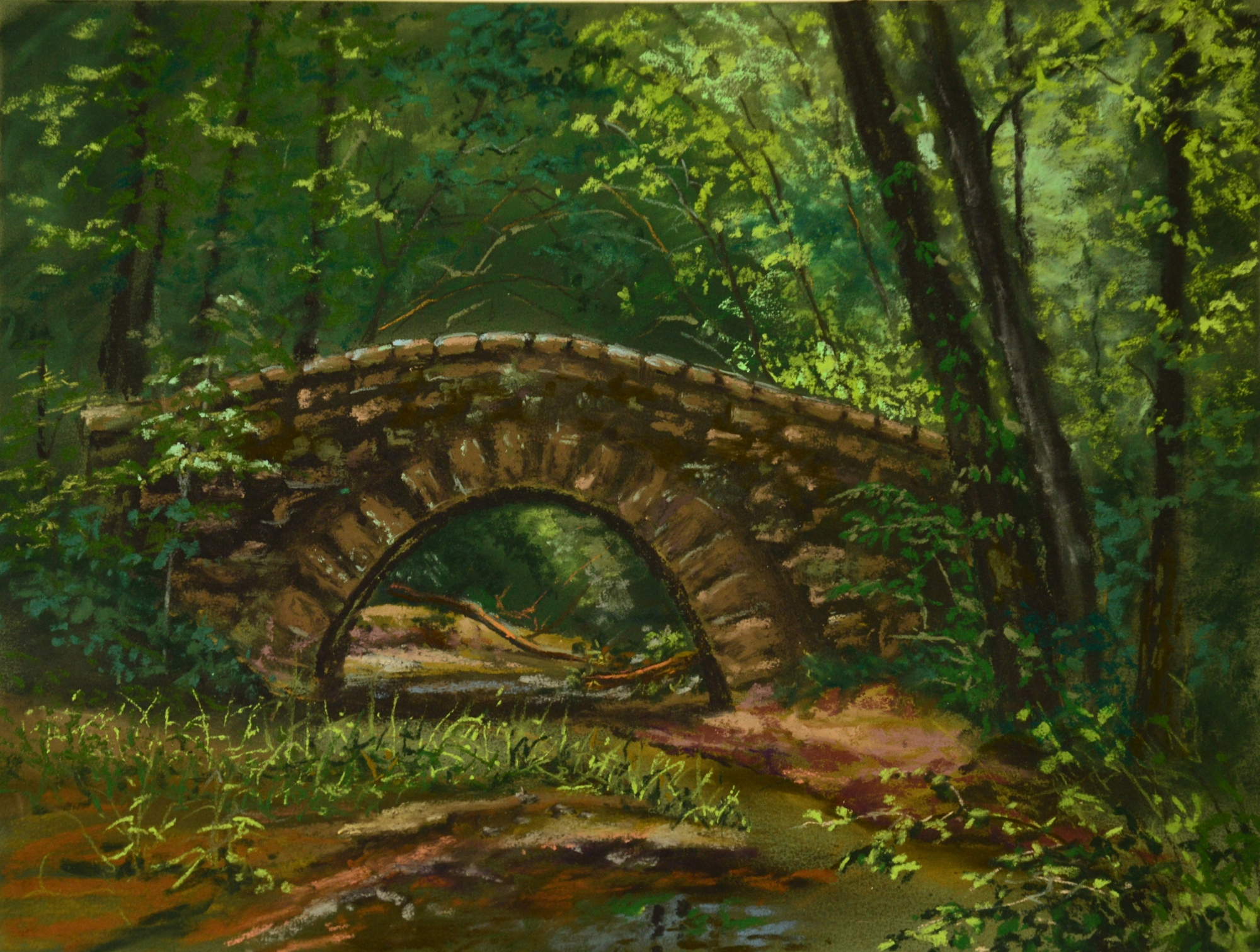 Lacey-Keosauqua State Park (alla prima) by Nancy Thompson
