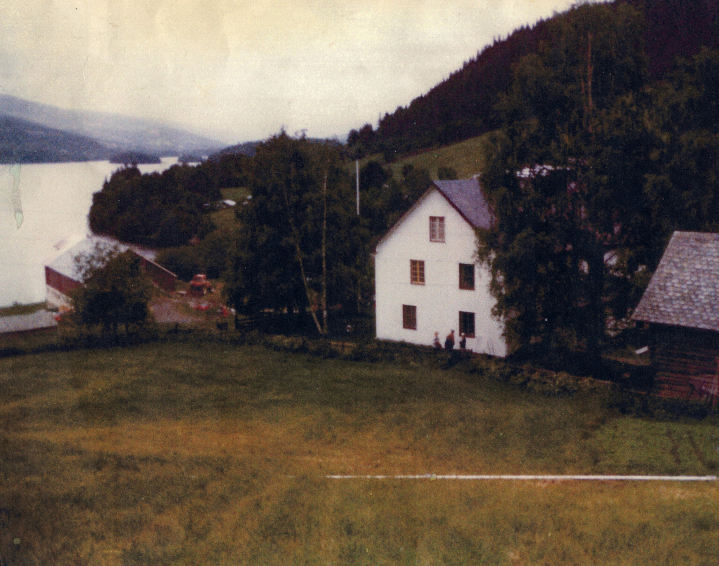 The Vik homestead in Vestre Slidre, Oppland county (now Innlandet county) in the Valdres valley of Norway. Photograph courtesy of edith Haugstad Nerstad, 1983.