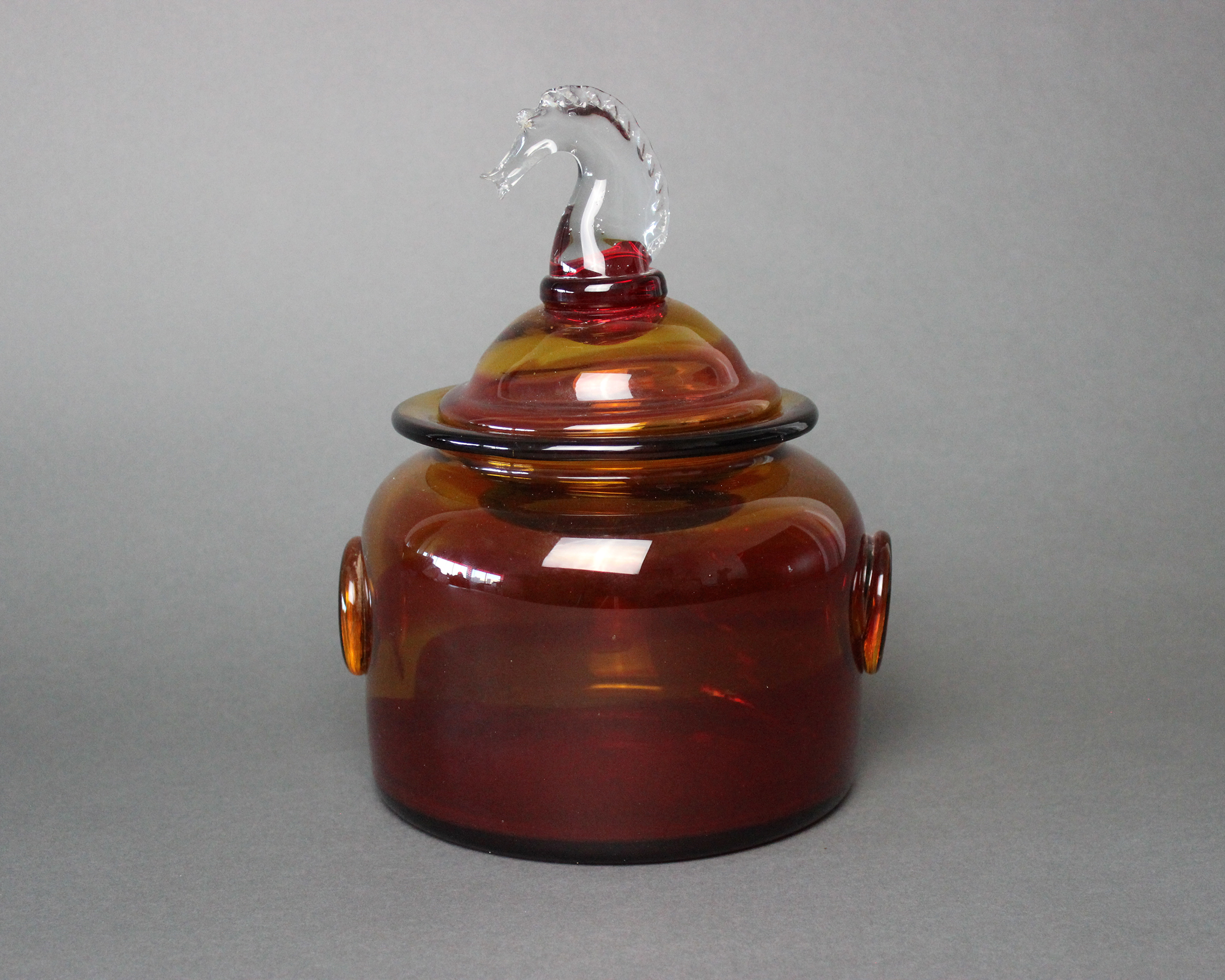 Blenko Cracker Jar - Will Prindle Collection