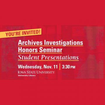 Archives Investigations Honors Seminar Student Pre