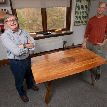Historic Leopold tree becomes a table