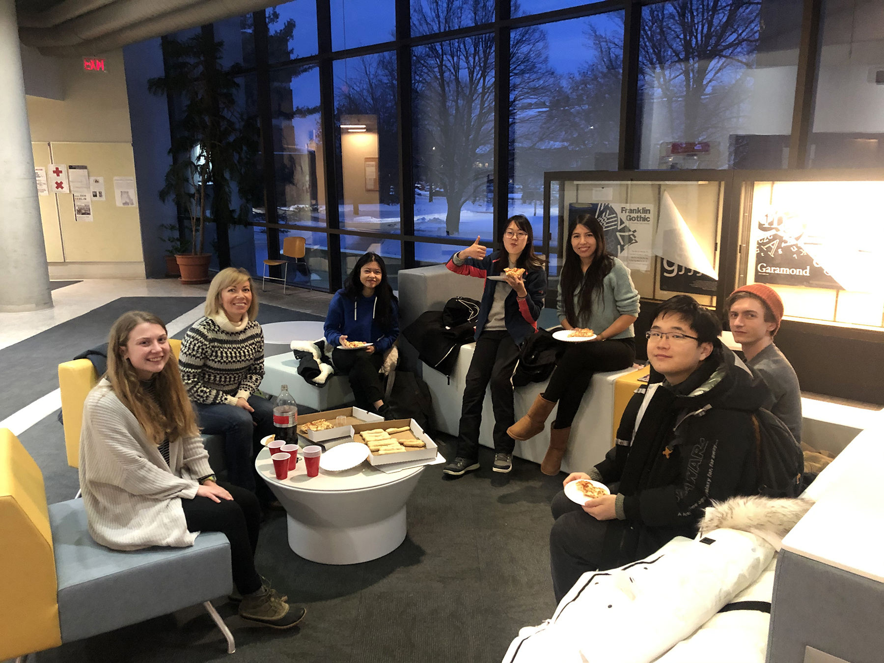 International Students with adviser Marina Reasoner