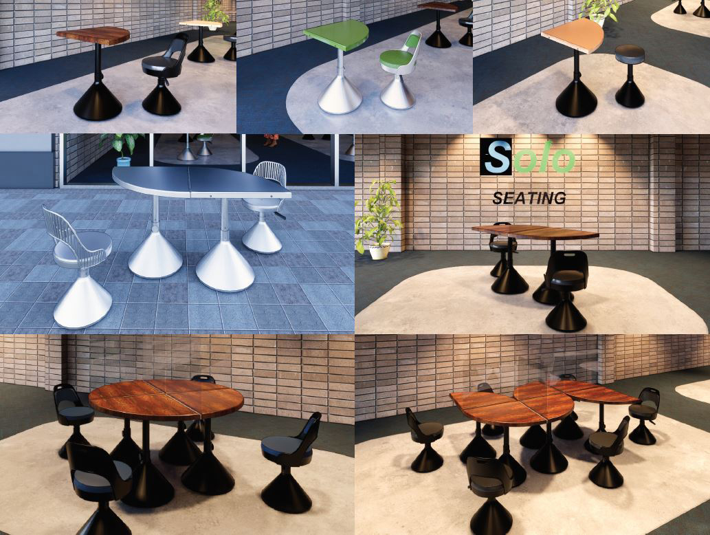 SOLO Seating by Carl Swenson and Yongyeon Cho