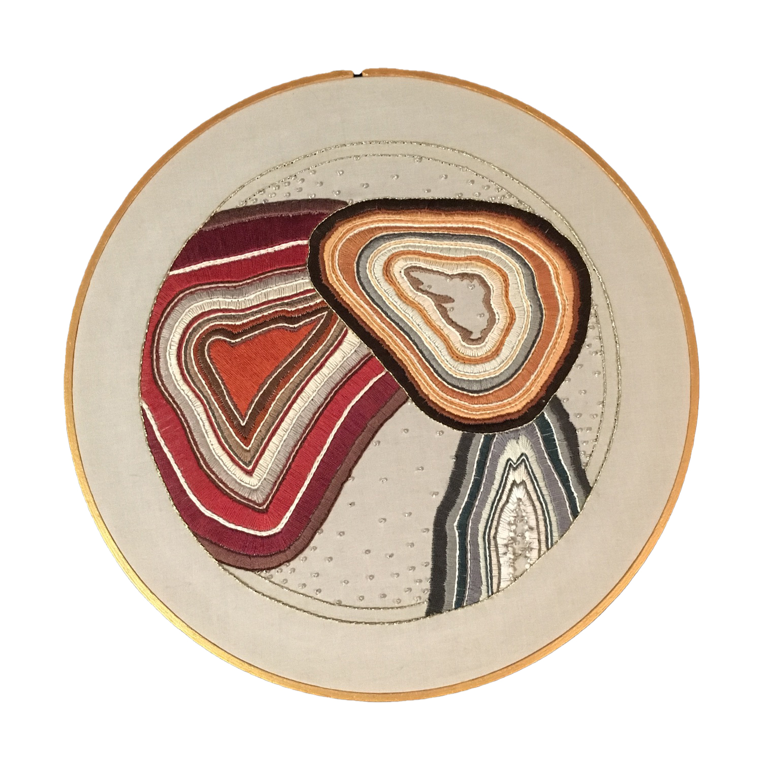 Three agates overlapping each other