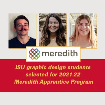 ISU graphic design students selected for 2021-22 M